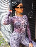 CRESCENT L/S TOP - PURPLE LEOPARD