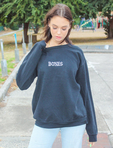 Bones Club Crew Sweater - Black
