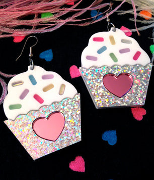 CUPCAKE WITH SPRINKLES EARRINGS