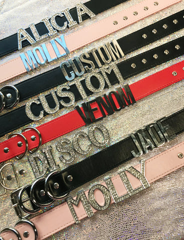 CUSTOM CHOKER *YOUR NAME/WORD/ETC* - Thick Size