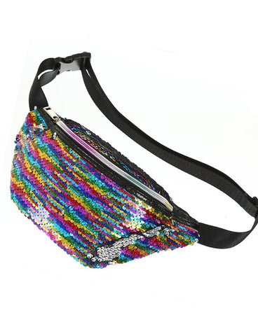 DISCO SEQUIN BUMBAG - RAINBOW