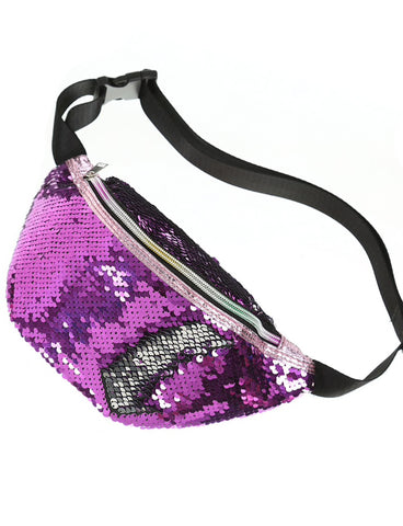 DISCO SEQUIN BUMBAG - PURPLE