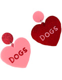 DOGS HEART EARRINGS
