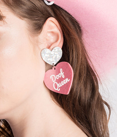 *EXCLUSIVE* DOOF QUEEN EARRINGS - PINK