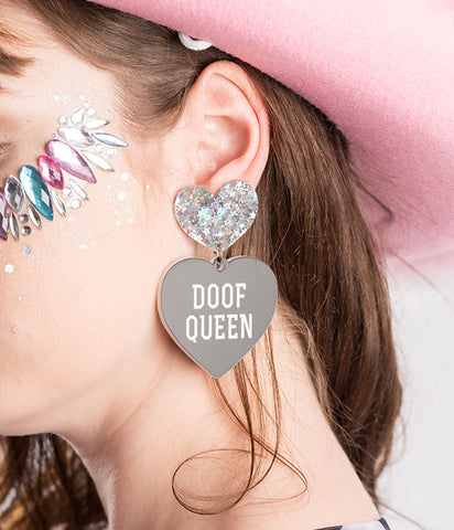 *EXCLUSIVE* DOOF QUEEN EARRINGS - BLACK