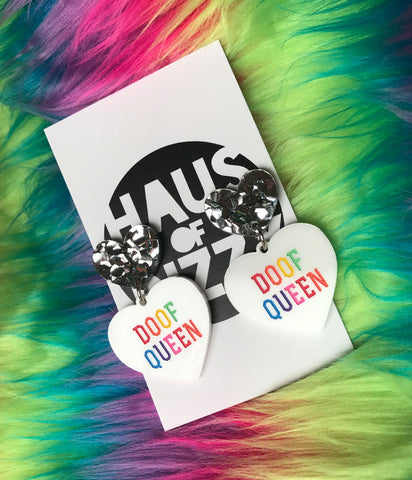*EXCLUSIVE* DOOF QUEEN EARRINGS - RAINBOW