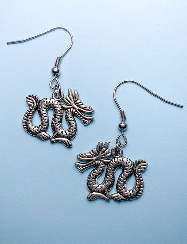 DRAGON PENDANT EARRINGS