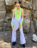 HOLOGRAPHIC CHAPS - PLAYA WHITE