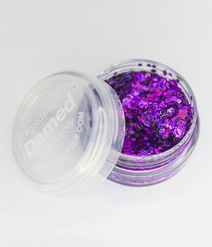 HOLOGRAPHIC PURPLE GLITTER GLUE