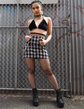 MADISON SKIRT - DARK CHECK
