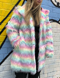 FRUIT TINGLES FAUX FUR JACKET