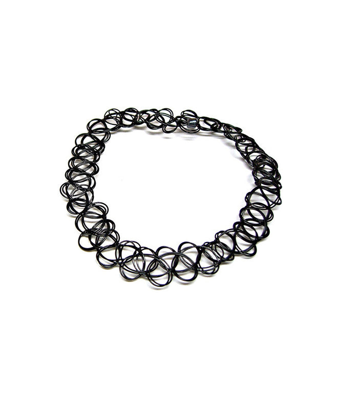 TATTOO CHOKER NECKLACE - BLACK