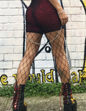 BIG MESH FISHNET STOCKING - BLACK