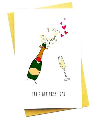 LET'S GET FIZZ-ICAL GREETING CARD