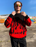 FLAME KNIT - RED