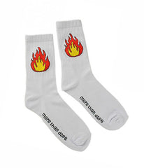 BURNING UP KNITTED SOCKS