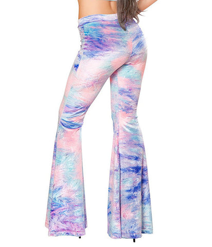 COTTON CANDY VELVET FLARES