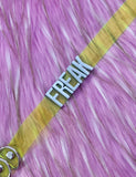 FREAK MINI WORD CHOKER - YELLOW