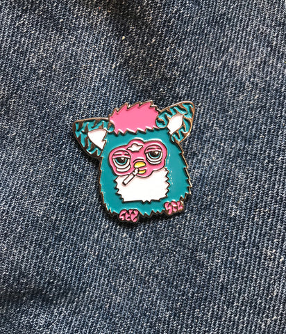 PIMPED OUT FURBY PIN