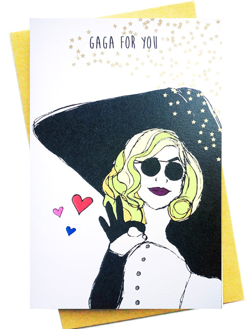 GAGA FOR YOU GREETING CARD