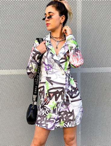 GRAFFITI BLAZER DRESS