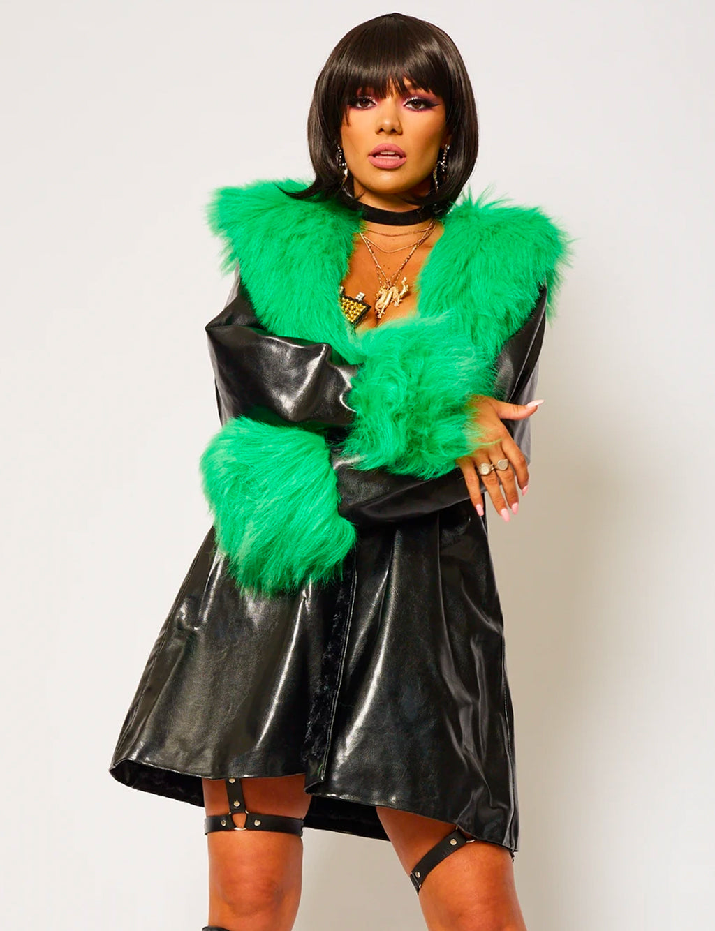 GREEN FUR JACKET