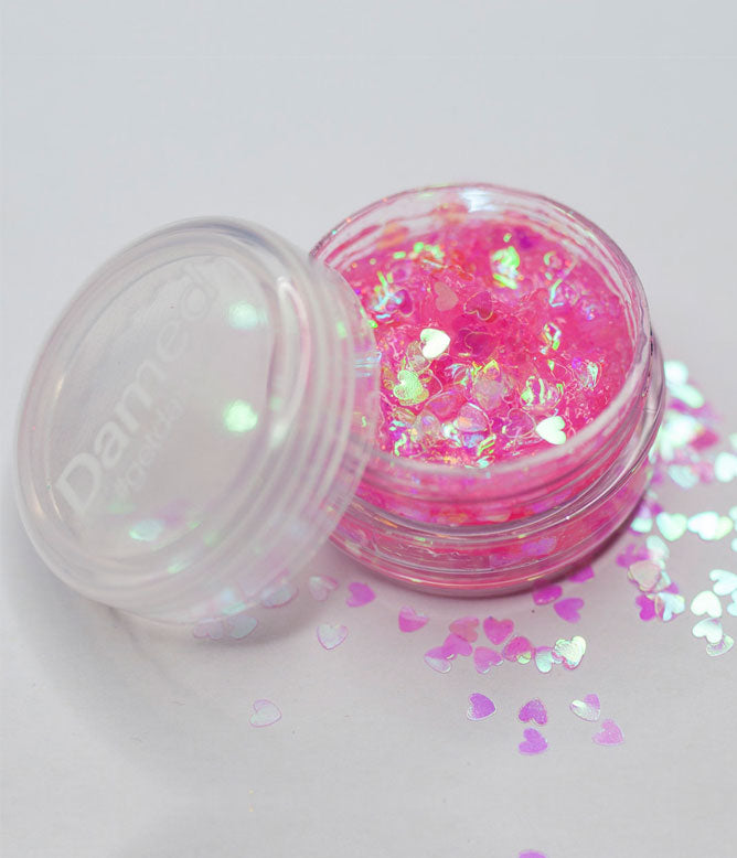 DAMED LOVE HEARTS COSMETIC GLITTER GLUE