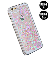GLITTER HEART RAIN PHONE 6 / 6 PLUS CASE - PURPLE