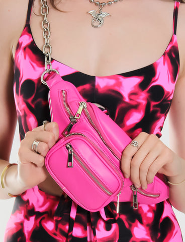 GLORIOUS CHAIN SLING BAG - PINK
