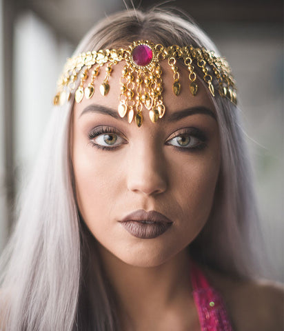 DRIPPING IN GOLD HEADPIECE/NECKLACE