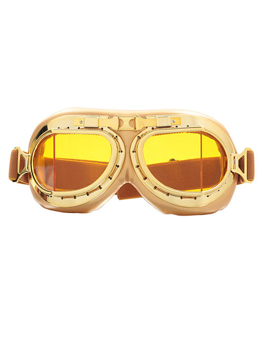DOOF GOGGLES - GOLD YELLOW LENS