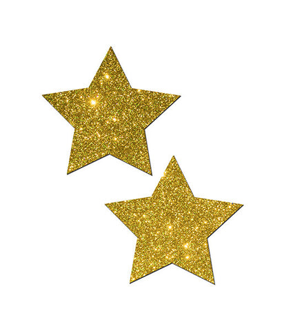 GLITTERING GOLD STAR NIPPLE PASTIES