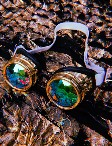 KALEIDOSCOPE GOGGLES - GOLD