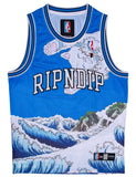 GREAT WAVE MESH BASKETBALL JERSEY - BLUE