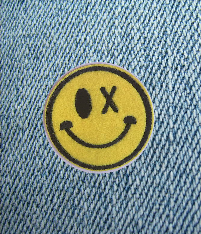 X MARKS HAPPINESS IRON ON PATCH