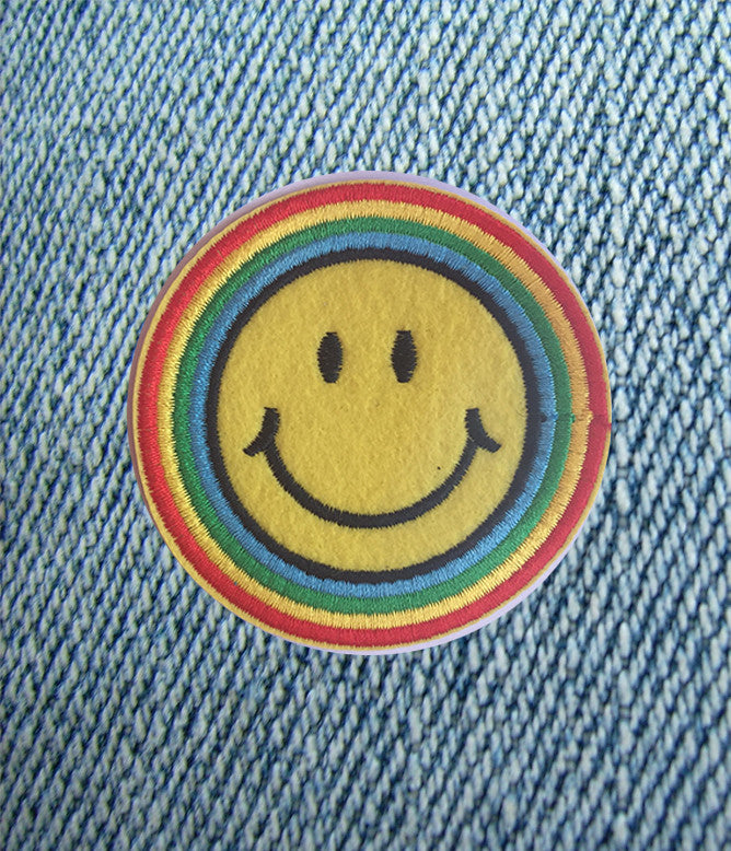 PEACE AND HAPPINESS IRON ON PATCH