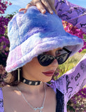 PASTEL DREAMS FUZZY HAT - PURPLE