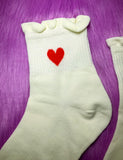 HEART SOCKS - WHITE