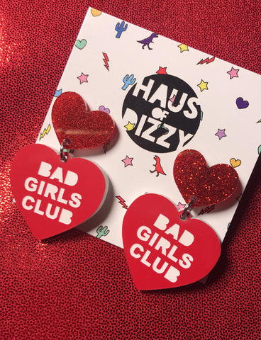 BAD GIRLS CLUB EARRINGS - RED