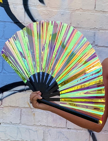 GIANT HOLO FAN - BLACK