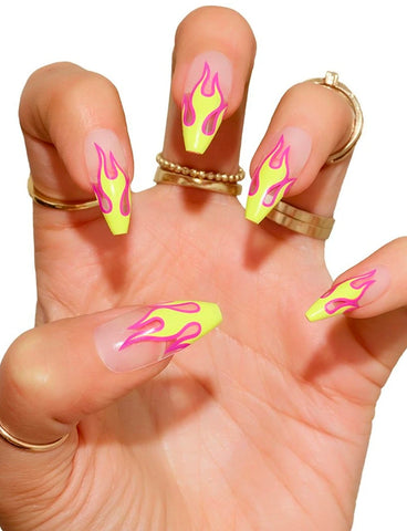 TRE SHE FALSE NAIL SET - HOT GIRL