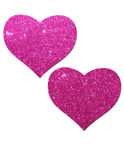 GLITTERING HEART NIPPLE PASTIES