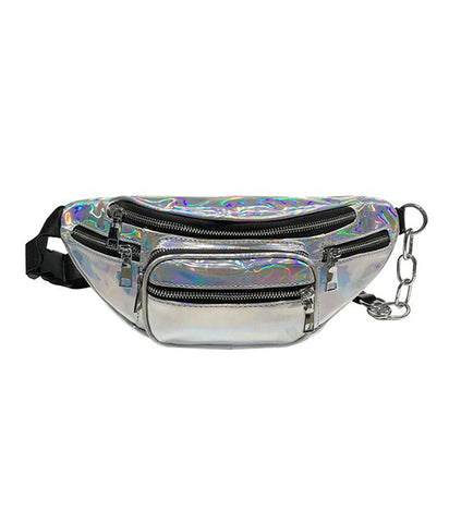 ILLUMINATE HOLOGRAM BUM BAG - SILVER