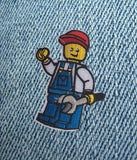 LEGO MAN IRON ON PATCH