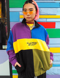 COLOUR BLOCK 1/4 ZIP FLEECE JUMPER