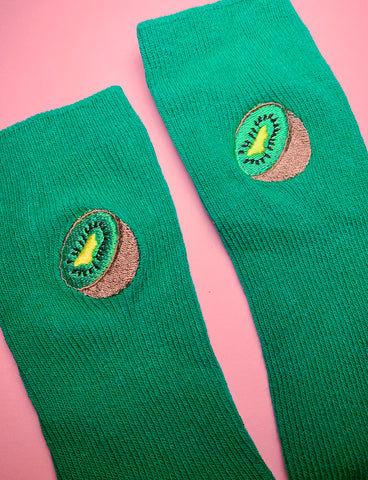 FEAST ON FRUIT SOCKS - KIWI FRUIT
