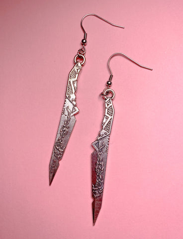 STATED KNIFE EARRINGS