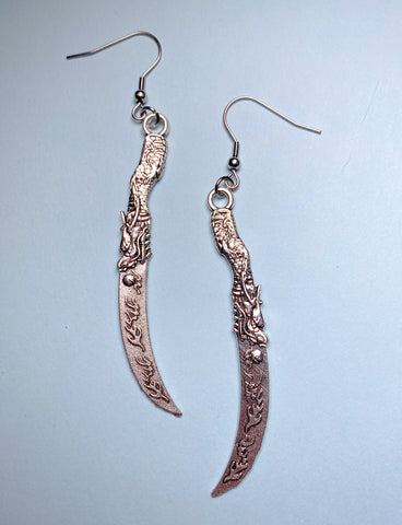WANTED KNIFE EARRINGS