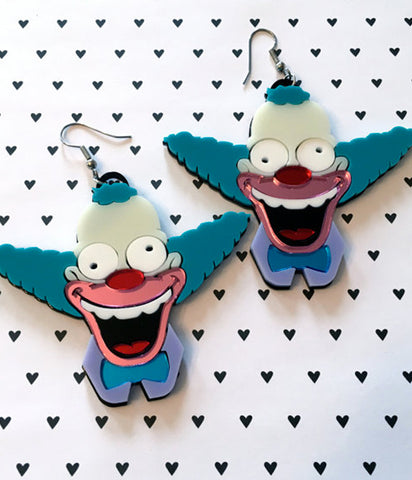 KRUSTY THE CLOWN EARRINGS