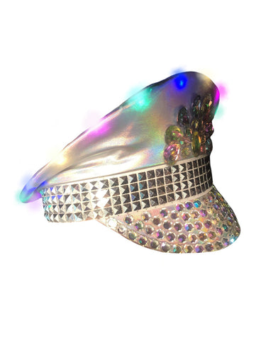 FLASHING LIGHTS FESTIVAL HAT - HOLO